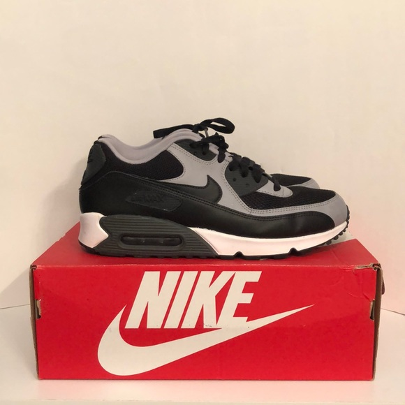 Nike Other - Men's Nike Air Max 90' Gray Black White Mens 10.5
